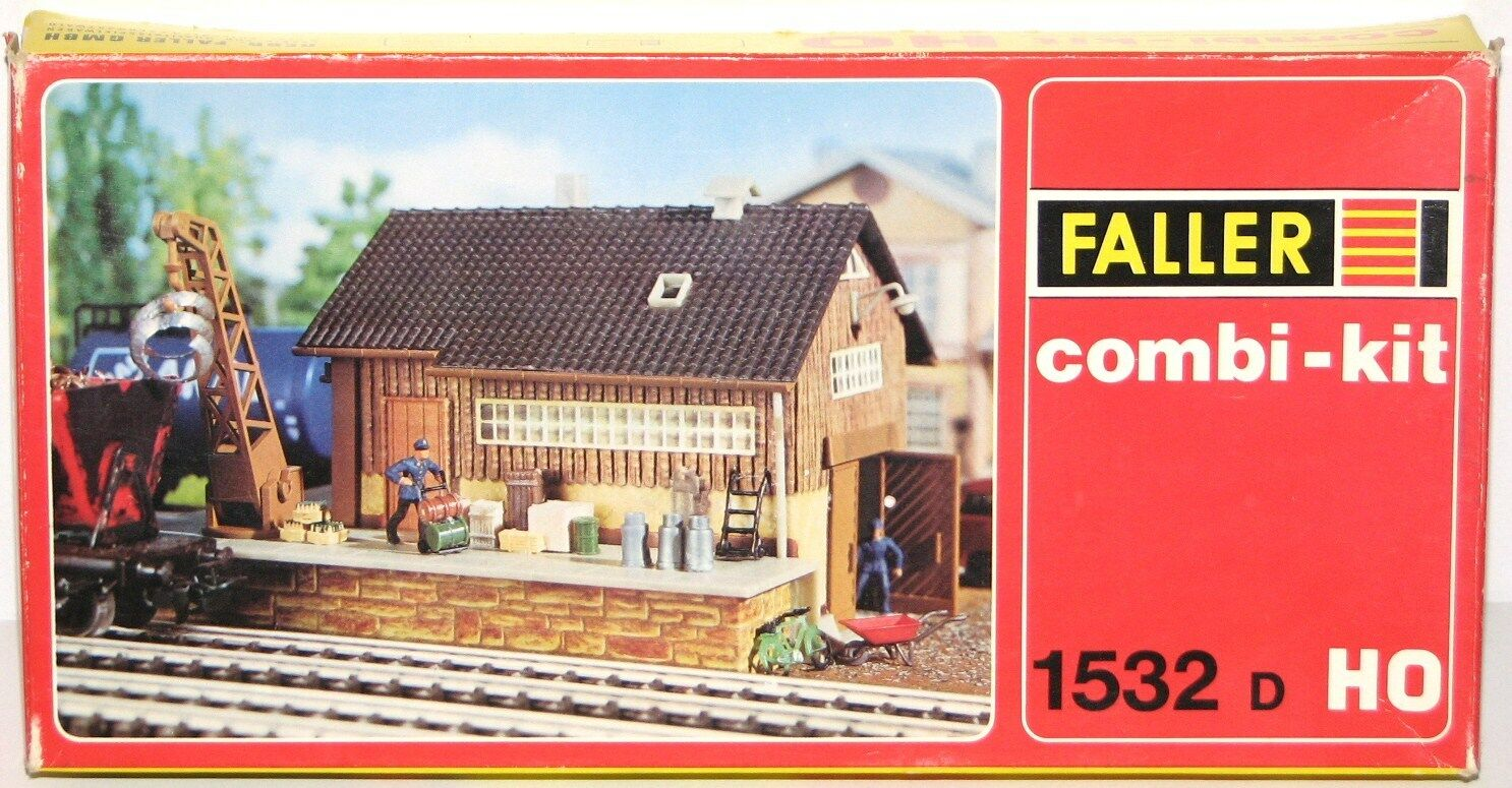 Faller H0 1532 D Combi-Kit Goods Shed - New +Box