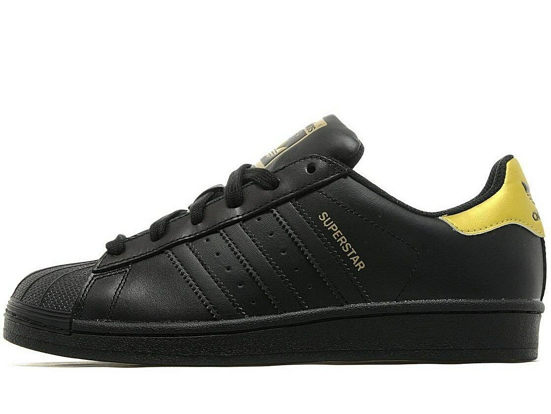 Adidas Originals Noir SuperStar femmes ® gris Noir Originals / Metallic Gold e9907e