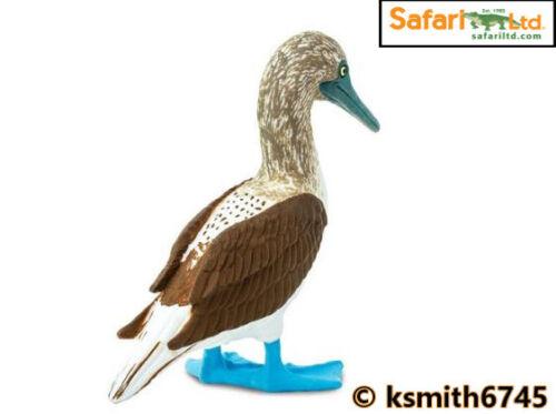 Safari Bleu fou à pattes solide Jouet en plastique Wild Zoo Animal Mer Oiseau nouveau