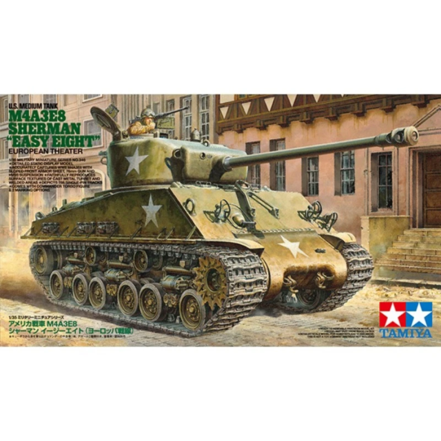 Tamiya 35346 1/35 U.S. Medium Tank M4A3E8 Sherman Easy Eight European Theatre Pl
