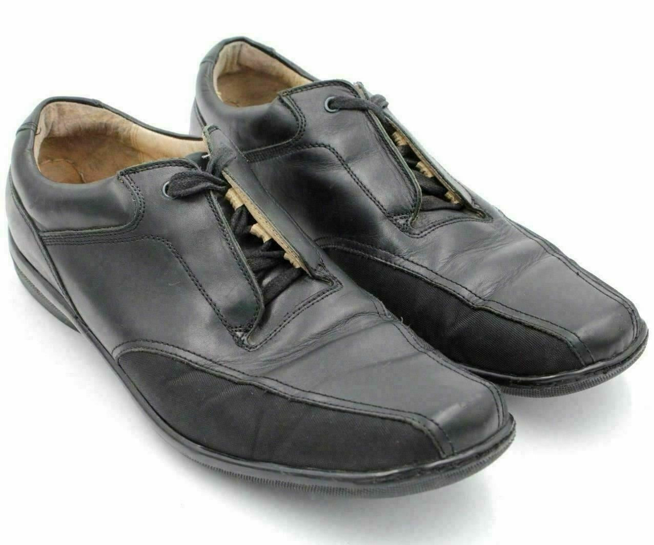 Kenneth Cole Men Casual Oxfords Side Glance US 11.5M Black Leather