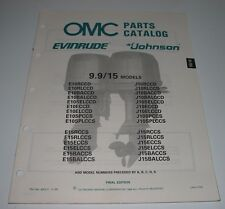 Parts Catalog OMC Ersatzteilkatalog Evinrude Johnson 9,9 / 9,9 15 Models 05/1988