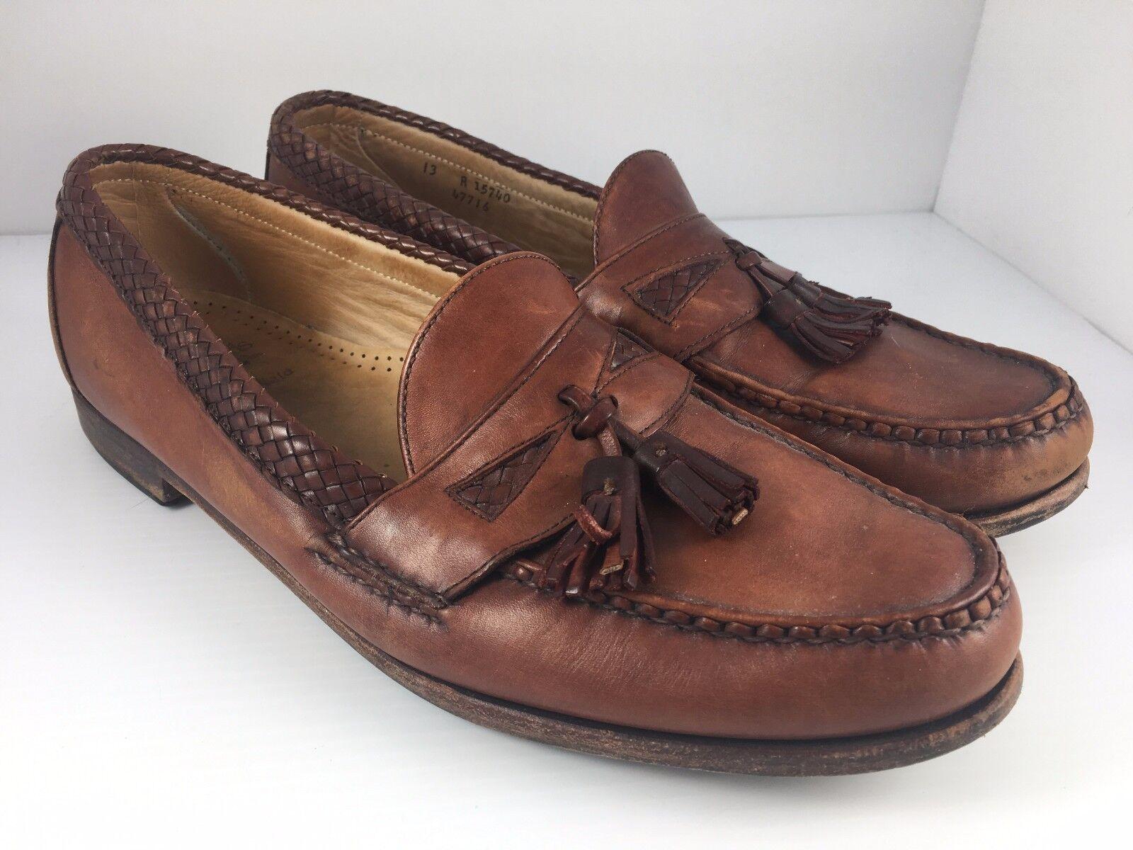 Allen Edmonds 'Maxfield' Men US 13 Brown Leather Tassel Dress Loafers
