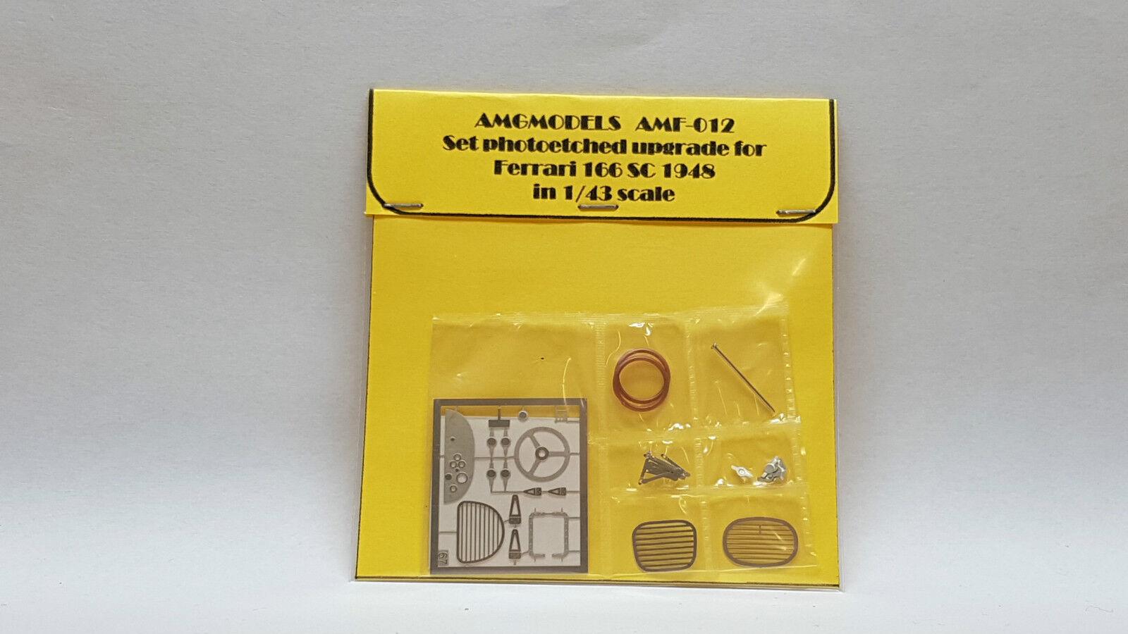 SET P E UPGRADE FOR FERRARI 166 SC '48 1 43 BY AMG AMF-012 N  AMR BOSICA MG TRON