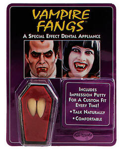 Vampire Fang Custom Fit Teeth Halloween Fancy Dresses Dracula Caps Party Cosplay