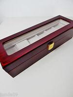 Uhrenbox Uhrenvitrine Uhrenkasten Holz Sammelbox B-Ware 4,6,12 Uhren Neu