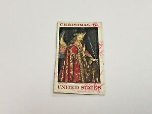 Image Is Loading Christmas Stamp 6 Cents United States Van Eyck