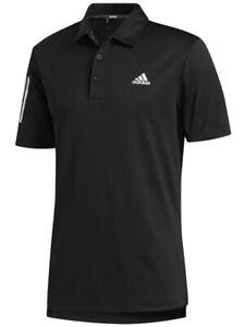 Adidas-3-Stripe-Basic-Polo-Black-White-Mens