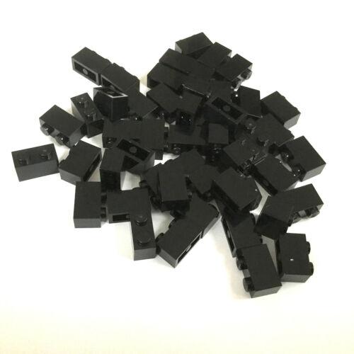 50 Lego Bausteine 1x2 schwarz NEU Grundsteine Basic Steine 3004