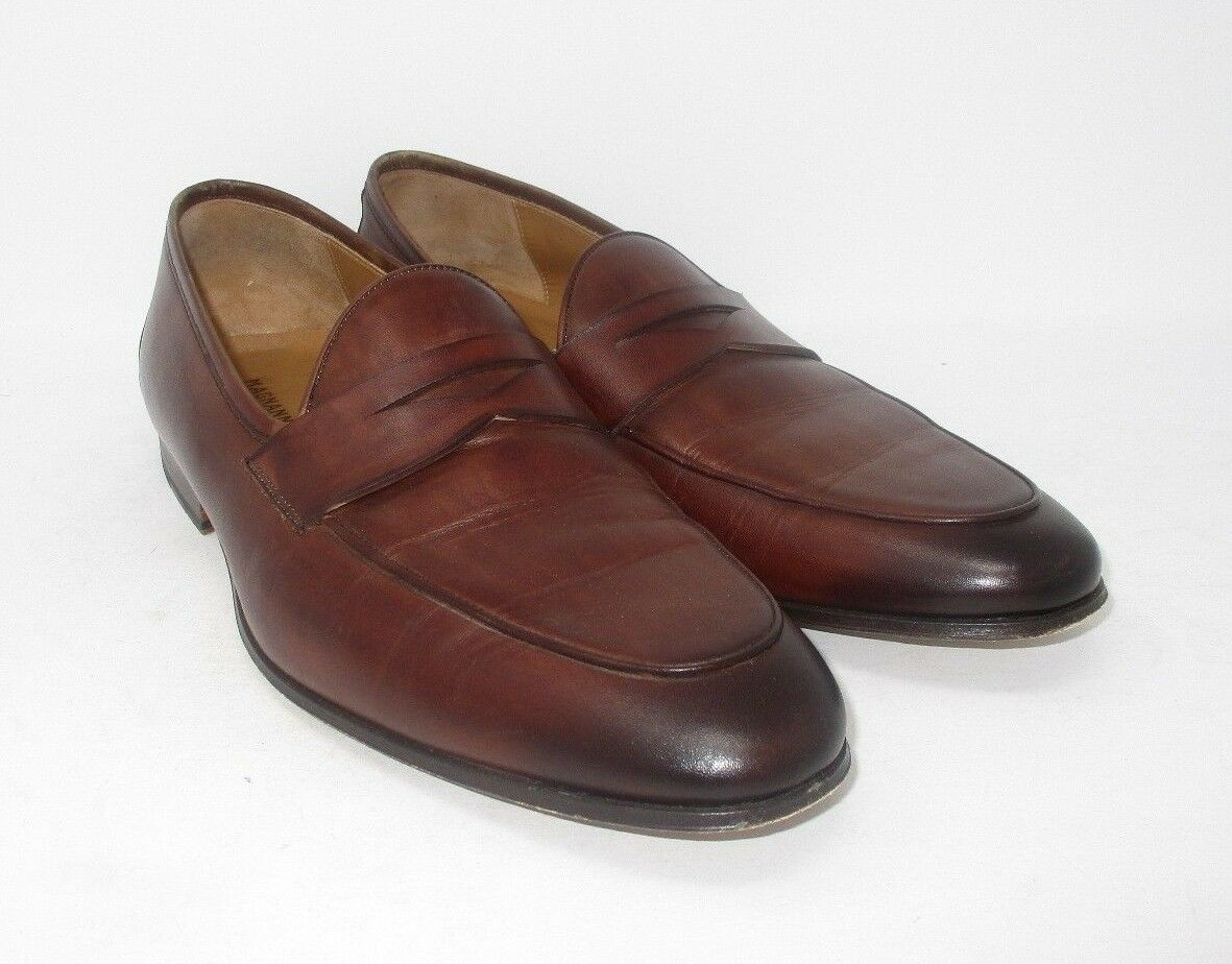 Magnanni Midbrown Penny Loafers size 11.5 US (19666-5) 955