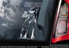 Dobermann - Car Window Sticker - Dog Sign -V05