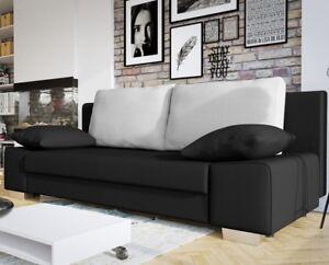 Sofa Laura Schlaffunktion Bettkasten Webstoff Stilvoll Couch Polstersofa Neu