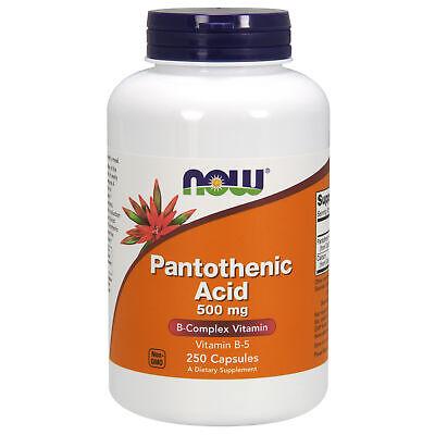 Pantothenic Acid 500mg 250 Capsules Skin Acne Relief Hormones Production Ebay