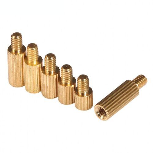 M2*3+3-M2*25+3 M2 Brass Knurled Round Spacer Standoff Riser Female-Male Screws