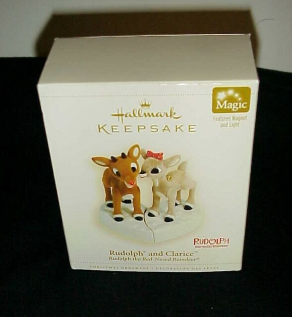 Set of Hallmarks Reindeer Christmas Ornaments Keepsake Rudolph and Clarice