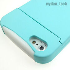 For Apple iPhone 5S 5 Hybrid Credit Card Case Hard Silicone Travel Flip Cover