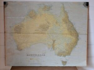 Vintage-large-map-print-Australia-Women-039-s-weekly-1982