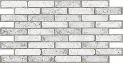 3d Wall Panels Plastic Stone Brick Decorative Tiles Cladding Pvc Brick Light Ebay
