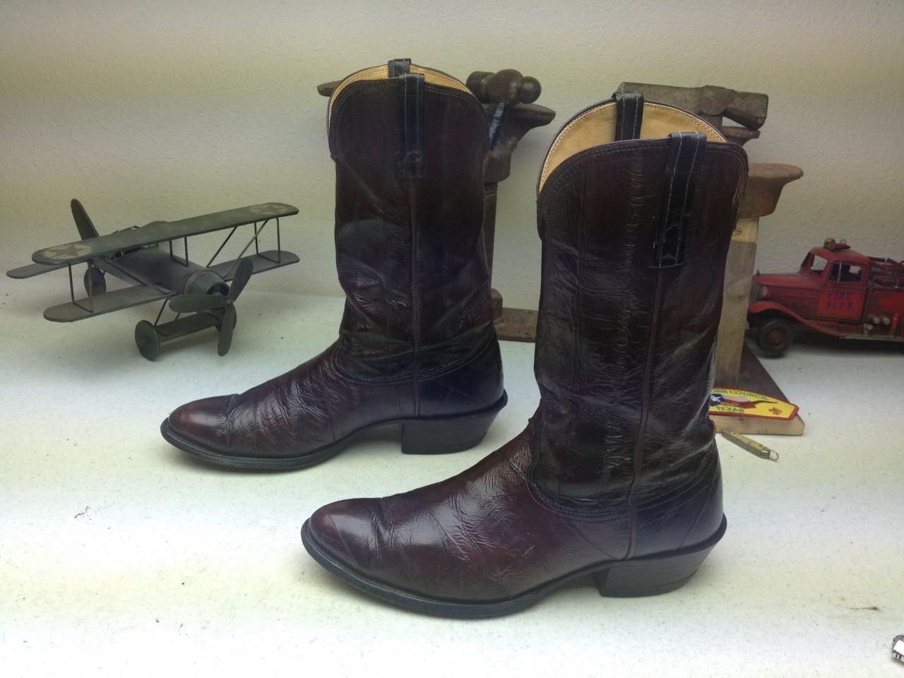 Super Suave Marrón Chocolate Nocona anguila Western Cowboy botas 10m