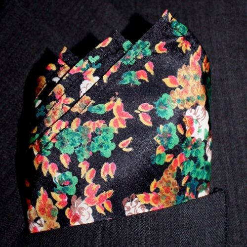 """Maple Floral Silk Pocket Square Full-Sized 16/""""x16/"""""""