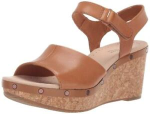 b74dd1941ce Details about CLARKS Women's Annadel Clover Wedge Sandal