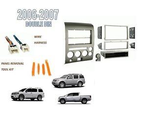 fits nissan titan pathfinder armada 2006 2007 2 din stereo. Black Bedroom Furniture Sets. Home Design Ideas