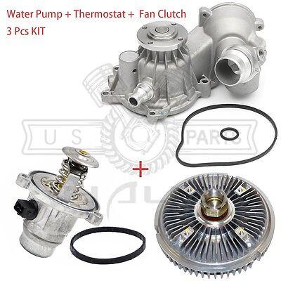Thermostat Kit BMW 545i 645Ci 745i 745Li X5 E53 E65 E66 4.4L New Water Pump