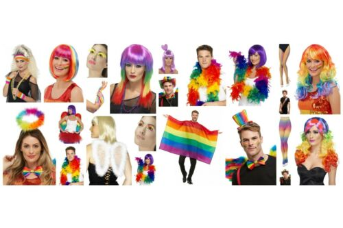 Femme Homme LGBT GAY PRIDE robe fantaisie ARC EN CIEL ACCESSOIRES Mardi Gras Party