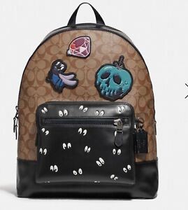 superior quality various colors shoes for cheap Details about Disney X Coach West Backpack In Signature Canvas W/Snow White  & The Seven Dwarfs