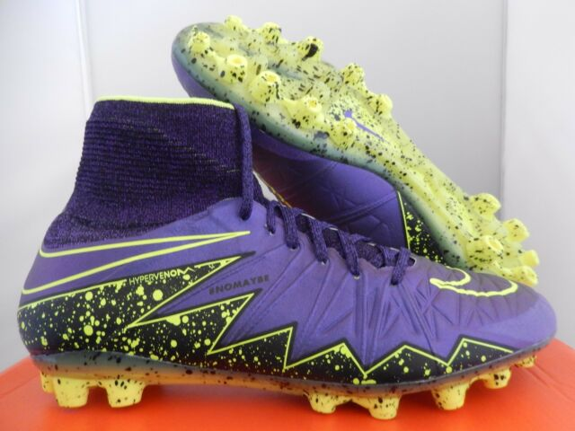 timeless design c2c65 e5b0f Nike Hypervenom Phantom II 2 AG 747490-550 Grape Purple Volt Mens Sz 9.5