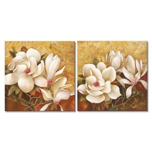 Image is loading Framed-Magnolia-Flowers-Floral-Giclee-Wall-Art-Painting-  sc 1 st  eBay & Framed Magnolia Flowers Floral Giclee Wall Art Painting Canvas ...