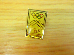 1992 WINTER OLYMPICS CBS OFFICIAL LOGO IN ALBERTVILLE MEDIA PIN