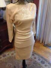 Amazing! bodycon Emilio Pucci Nude Cocktail Length Sequin Dress Retail $2k+