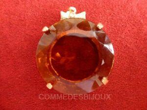"""Pendentif """"comme Un Cercle"""" Pavé Noeud Marron Ocre - Bijoux Vintage Sphinx Les Couleurs Sont Frappantes"""