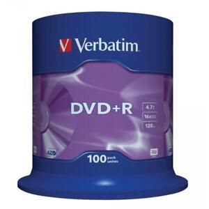 DVD-R-16x-Verbatim-034-Matt-Silver-Azo-034-Tarrina-100-uds