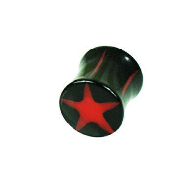1 Paar Flesh Tunnel Plug Pink Rot Türkis Edelstahl Stern Bis 10mm Ohr Piercing