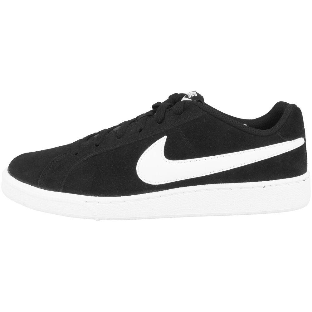 Nike Court Royale Suede Chaussures Rétro Sneaker noir blanc Obliger son 819802-011-