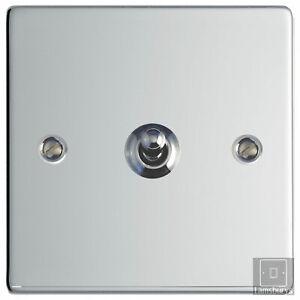 Volex Flat Polished Chrome Steel Toggle Dolly Light Switch 1 Gang 2 Way Ebay