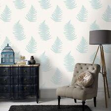 32-450 Graham and Brown Superfresco Verdant Teal Leaf Motif Feature Wallpaper