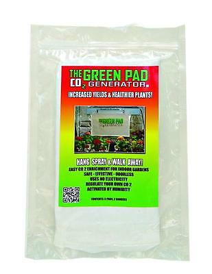 PACK OF 10 CO2 GREEN PADS CO2 GENERATOR ORIGINAL HYDROPONICS IDEAL FOR GROW TENT