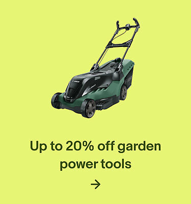 Up to 20% off garden power tools