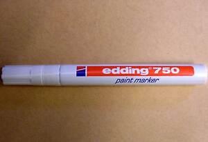 10 Edding 750 Weiss Lackmarker Marker 2 4mm Wasserfest Stifte
