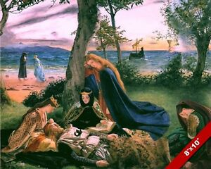 DEATH OF LEGENDARY KING ARTHUR PAINTING BRITISH HISTORY ART REAL CANVAS PRINT