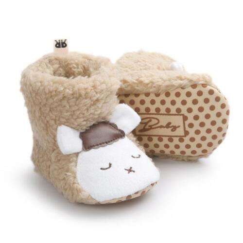 Cute Sheep Plush Boots Baby Girl Boy Soft Sole Infant Toddler Newborn Crib Shoes
