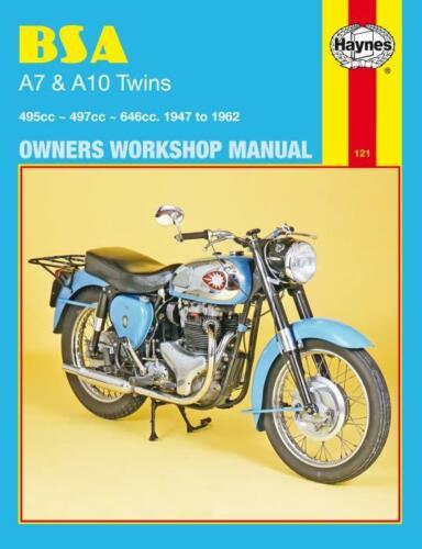 Haynes Workshop Manual  BSA A7 A10 1947-1962 Twins Motorcycle New Service Repair