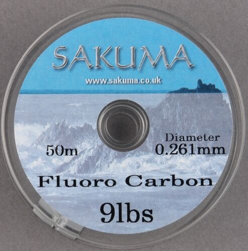 50m-toutes les souches de rupture Sakuma fluorocarbone clair