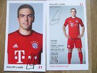 Handsignierte AK Autogrammkarte *PHILIPP LAHM* FC Bayern München 15/16 2015/2016