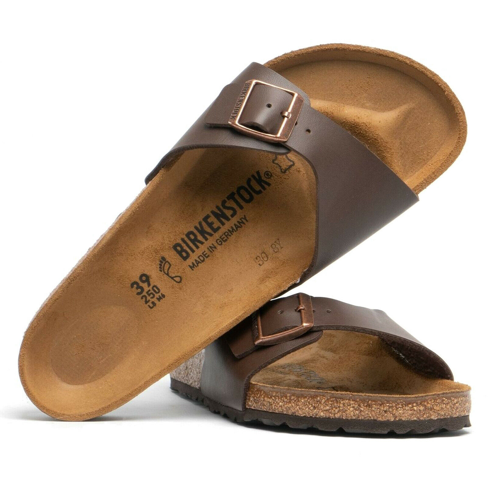 Birkenstock Unisex Sandals Madrid Mens Womens Summer Birko-Flor