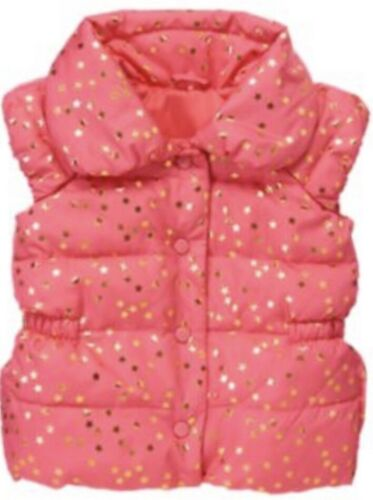 Gymboree Star of the Show 4 Pink Puffy Vest Jacket Coat Stars 13
