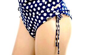 Magasiner Pour Pas Cher Miss Caraibes Slip Bikini 1 P. Taille L/fr42/eu40 Marine A Pois '045-cappuccino'